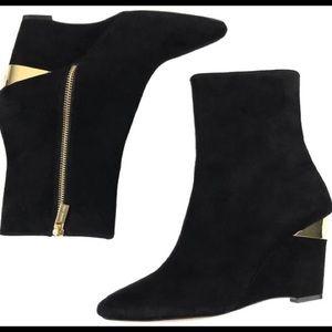 Black & gold Michael Kors booties